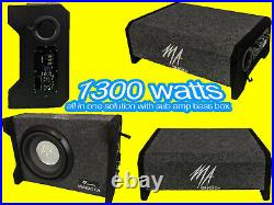 10inch powered ported enclosures subwoofer box 1300w compact design for all car