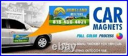 2- 18x36 Custom Car Magnets Magnetic Auto Truck Signs Free Design Free Shipping