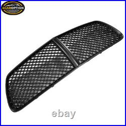 Fits 11-14 Dodge Charger B Style Unpainted Front Upper + Lower Grill Grille -ABS