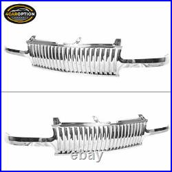 Fits 99-02 Silverado 00-06 Suburban Tahoe Vertical Style Grill Grille Chrome