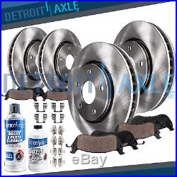 For 2003 2004 2011 Lincoln Town Car Front & Rear Brake Rotors + Ceramic Pads
