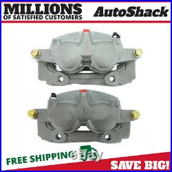 Front Disc Brake Caliper with Bracket Pair 2 for 2003-2011 Mercury Grand Marquis
