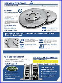 Front Rotors & Ceramic Pads For CROWN VICTORIA GRAND MARQUIS TOWN CAR MARAUDER
