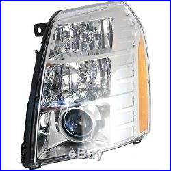Headlight Kit For 2009-2014 Cadillac Escalade Left and Right 4Pc