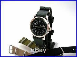 NATO WWII Military Watch vintage Army design 21J Auto SS Sapphire IW SUISSE US