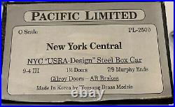 Pacific Limited, New York Central, PL-2500, NYC USRA-Design Steel Box Car