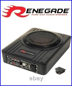 RENEGADE 20 cm 8 inch active subwoofer system designed to Play in small car