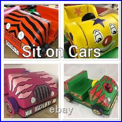 Sit on Make a Car Lots of designs approx 100 x 50 x 30 cm in bag