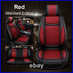 US Car SUV Standard 5-Seat PU Leather Seat Covers Cushion Front+Rear Universal