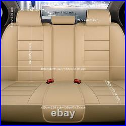US Design Car 5-Seat Leather Seat Cover Front+Rear For Toyota Camry Corolla RAV4